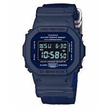 CASIO G-SHOCK DW5600LU-2 MILITARY REVERSIBLE BAND CAMO/BLUE DIGITAL WATCH NEW