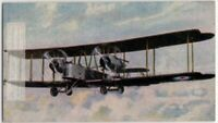 WWI Vickers Vimy Royal Air Force Heavy Bomber 1930s Ad Trade Card