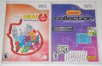 Nintendo Wii Game Lot - Think Smart Family (New) Puzzler Collection (New)