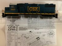 Athearn Roundhouse HO RND14852 CSX GP38-2 #2643 DCC Ready NEW