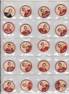 1961-62 Sheriff/Salada hockey Coins, Complete team set   NEW PRICE