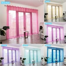 Gezitelilun Window Screens Transparent Curtains Punch Style for Home Living Room