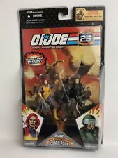 NIB G.I. Joe 25th Anniversary 2007 Comic Pack SCARLETT and GI JOE HAWK MOC