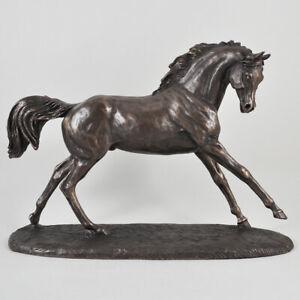 Arabian Race Horse Cold Cast Bronze Sculpture / Figurine By Harriet Glen.New