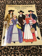 Paper Dolls Tom Tierney Uncut Colonial Fashions 1995