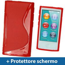 Rosso Custodia TPU Gel per Nuovo Apple iPod Nano 7 Gen Generazione 7G Case Cover