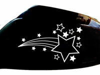 Shooting Stars Car Sticker Wing Mirror Styling Decals (Set of 2), White