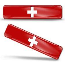 3D Gel Aufkleber Schweiz Flagge Schweizerische Fahne Switzerland Flag Stickers