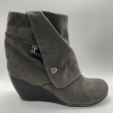BLOWFISH Gray Wedged Heel Ankle Boots Women Size 9.5