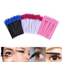 50Pcs Disposable Eyelash Brush Cosmetic Makeup Tool Mascara Wands Applicator UK6