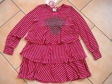 (C497) Nolita Pocket Girls Kleid mit Volants Schleife Glitzer Logo Druck gr.104