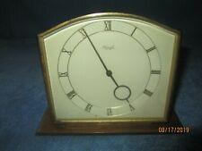 VINTAGE KEINZLE BRASS 8 TAGE 10 STEINE DESK CLOCK