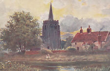 SUFFOLK: Bramford Church from the River-PARSONS-NORMAN- COWELL