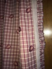 GORGEOUS COWTAN&TOUT ROSE COLOR CHECK EMBROIDERED DRAPES~CUSTOM~2 SETS AVAILABLE