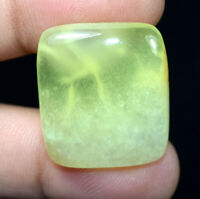 Peru Prehnite 100% Natural Cabochon 47.05 Cts. Cushion Loose Gemstone