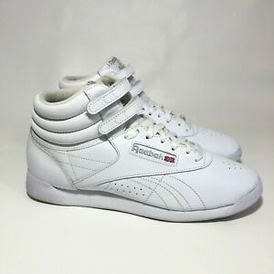 Reebok Classic White Leather High Top Freestyle Hi Women's Sneaker US Size 10