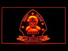 P603R Usmc Marine 2nd Recon Battalion Military For Display Light Sign