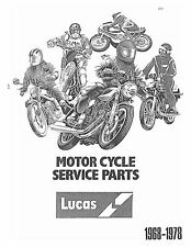 Lucas Parts Manual Book ITALJET 1971, 1972,  1973, 1974, 1975, 1976, 1977 & 1978
