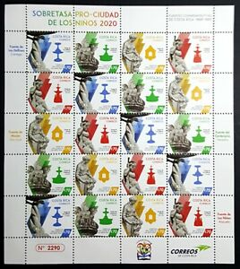 Costa Rica Stamps Sobretasa Commemorative Fountains 2020 MNH Full Sheet **NEW**