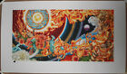 AJ Masthay The Wheel Art Print Signed Numbered /350 Skull Snakes Flames Flowers