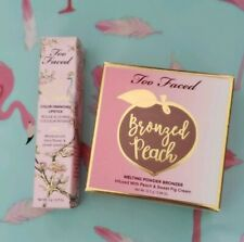 Too Faced Bronzed Peach Melting Powder Bronzer Full Sz AUTH & La Creme Lipstick