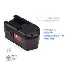2000mAh 18V 18 VOLT Battery for MILWAUKEE 48-11-2230 AEG SB2E 18 T Super Torque