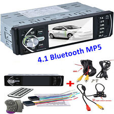 "4.1"" Car Truck MP5 Player Video Radio Bluetooth TFT Screen +Rear View Camera 12V"