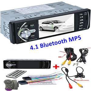 "4.1"" Car Truck MP5 Player Video Radio Bluetooth TFT Screen +Rear View Camera 12V"