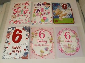 6 YEAR OLD BIRTHDAY CARDS