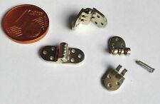 4 Paare Mini Schraubscharniere Brillenscharniere 6mm breit Metall Nietscharniere