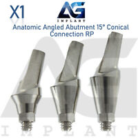 Anatomic Angular Abutment 15° RP Conical Connection Titanium Dental Implant