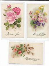 French Greetings postcards, early, c 1910