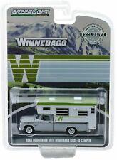 1966 Dodge D-100 + Winnebago Slide-in Camper  *** Greenlight 1:64 NEU