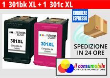 2 ink per HP 301XL Nero+Colore Deskjet 2544 1050 2050 hp officejet 2620 4630