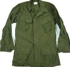 VINTAGE 60s poplin ripstop VIETNAM 1969 JUNGLE combat jacket OG-107 military XS