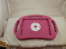 "IPad Tablet holder stand up protector carrier car seat soft pink 7.75"" x 5.5"""