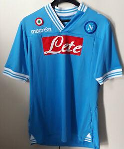 Maglia Gara SSC Napoli 2012-13 Home Uefa Macron Taglia XXL + Patch Europa League