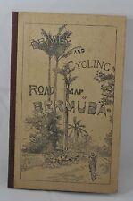 "ANTIQUE 1911  ""DRIVING & BIKING"" BERMUDA BICYCLE FOLD OUT MAP"
