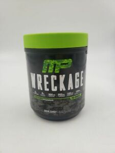 MUSCLEPHARM WRECKAGE PRE-WORKOUT ENERGY AND ENDURANCE SOUR CANDY FLAVOR 25 SERVI