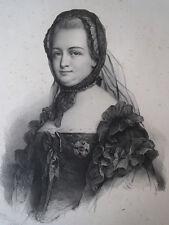 Lithographie de Grévedon, Marie Thérèse, impératrice d'Allemagne, 1836