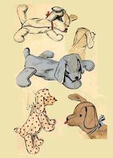 Stuffed Toy Pajama case - Floppy Dog toy or overnight bag 6588 - Toy bag 1940s