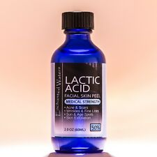 2 oz LACTIC Acid Skin Peel- 50% - For: Acne, Scars, Wrinkles, Melasma, Age Spots