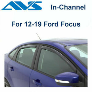 AVS Rain Guards In-Channel Window Vent Visor 4Pc For 12-2018 Ford Focus - 194373