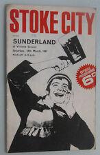 Stoke City  v  Sunderland  - 1966/1967 Division 1 - Free pp(UK)