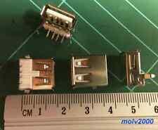 5x Conector USB A Hembra PCB 90 Grados - FEMALE A USB SOCKET CONNECTOR