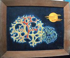 Peinture huile sur toile - Tableau signé AUDOUZE 50 x 65 cm - 1979