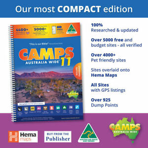 Camps 11 Free Camping Guide A4 Spiral Bound Book New - CAMPS 11