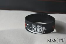 The Walking Dead Silicone Rubber Bracelet Band Wristband US Seller