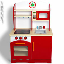 Wooden Child Play Kitchen Kid Toy Kitchenette Fun Pretend House Cooker Oven Cook