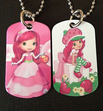 Strawberry Shortcake 2-Sided Color Photo Dog Tag Necklace/Keychain FREE SHIPPING